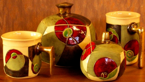GREEN IMAGION - TEA OR COFFEE SET