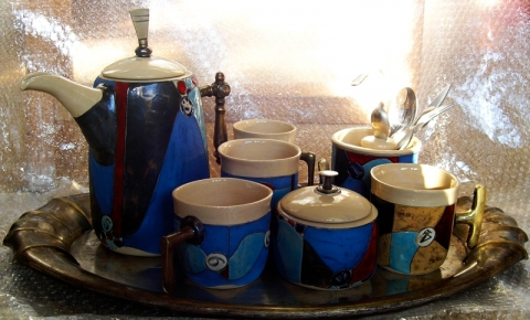 BLUE RAPSODY TEA OR COFFEE SET