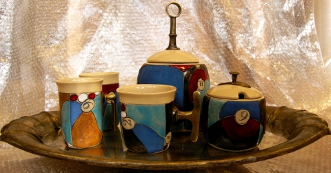 BLUE PARADISE TEA OR COFFEE SET