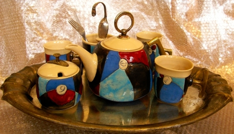 BLUE LOVE TEA OR COFFEE SET