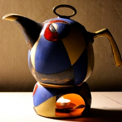 TEA OR COFFEE POT BLUE