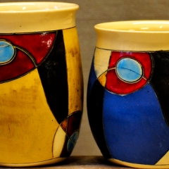 HW MUGS BLUE & YELLOW