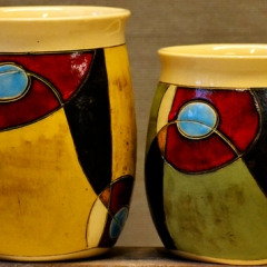 GW MUGS GREEN & YELLOW