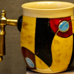 GW MUGS CECILIA YELLOW - BIGGER