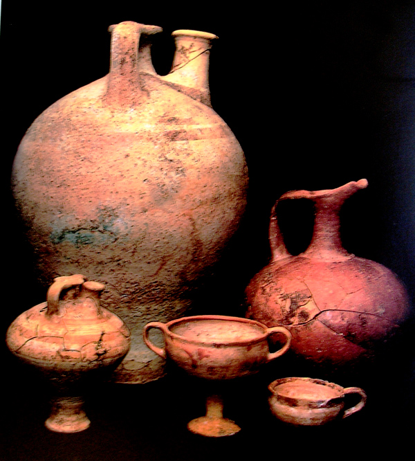 egyptian pottery  1400 bc